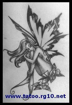 Tinkerbell Hot Art   Desenho para tatuagem - Fada.