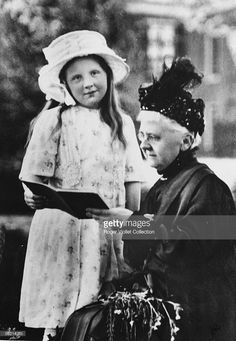 The future queen Juliana of Netherlands and her grand-mother, Emma of…