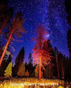 Stars in The Sky a Fiery Night Fine Art by PhotosbyJerryCowart, $40.00