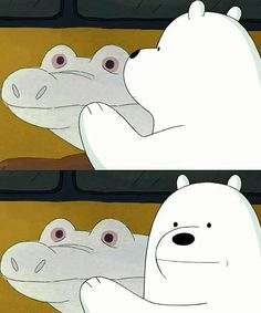 Follow Pinterest : dungdungspins (Vũ Phương Dung) Ice Bear We Bare Bears, 3 Bears, Cute Bears, Pardo Panda Y Polar, Cartoon Network, We Bare Bears Wallpapers, Bear Wallpaper, Dibujos Cute, Bear Cartoon
