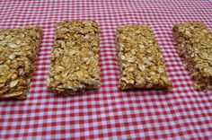 Pumpkin Granola Bars.  Easy to make and healthier than store bought bars.