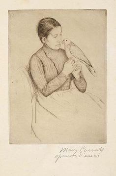 The parrot (1891) - Mary Cassatt (1844-1926)