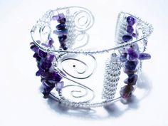 Amethyst Silver Cuff Bracelet Silver Cuff, Amethyst, Bracelets, Amethysts, Bracelet, Arm Bracelets, Bangle, Bangles, Anklets