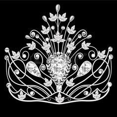 14342452-Иллюстрация-короны-диадема-женская-свадебная-на-черно.jpg (450×450)