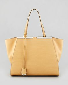 Trois-Jour Leather Tote Bag, Yellow by Fendi at Neiman Marcus.