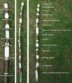 The notch stick simple way to practice all your Bushcraft notches.