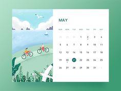 May banner desk calendar ui illustration Art Calendar, Kids Calendar, Desk Calendars, 2019 Calendar, Magazine Design, Graphic Design Magazine, Graphic Design Calendar, Monthly Planner Printable, Printable Calendar Template