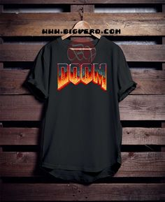 DOOM Logo Tshirt //Price: $14.50    #clothing #shirt #tshirt #tees #tee #graphictee #dtg #bigvero #OnSell #Trends #outfit #OutfitOutTheDay #OutfitDay
