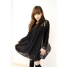 Women's Solid Color Shirt Collar Long Sleeves Casual Spring Dresses