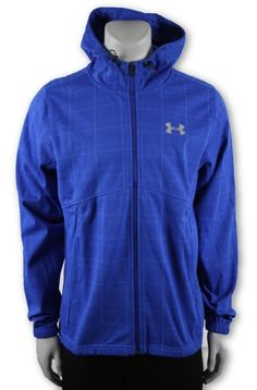 b3dd6cb19ef Under Armour Men s Strom 2 Water Wind Resistant Jacket Blue Checked - L