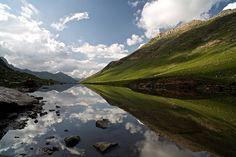 Stream feeding Gadsar Lake, Kashmir Valley, India