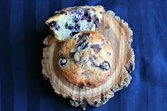 Blueberry muffins- topped with nutmeg and sugar these are the perfect treat with a cup of coffee!