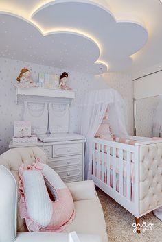 Baby Girl Nursery Decor, Baby Bedroom, Baby Room Decor, Nursery Room, Girls Bedroom, Girls Room Design, Baby Room Design, Bedroom False Ceiling Design, Room Ideas Bedroom