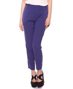 Button Flap Woven Pants - StyleSays
