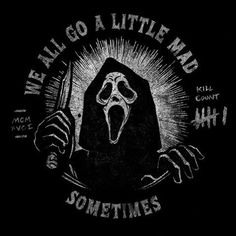 Ghostface Scream, Big Scary, Horror Icons, Dark Quotes, Horror Movies, Darth Vader, Seasons, Movie Posters, Madness