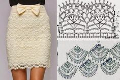 Crochet skirt...and lots of other crochet stuff - all with diagrams.