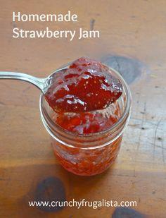 Love this homemade strawberry jam recipe.