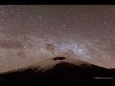 May 2010 Clouds and Stars over Cotopaxi Volcano in Ecuador   Credit & Copyright: Stéphane Guisard (Los Cielos de America), TWAN The band of our Milky Way Galaxy, the dark Coal Sack nebula, and the Southern Cross can all be seen overhead. Satellites streak by from several directions. Soon thin clouds roll by and seem to make the brightest stars sparkle. On the volcano (starting at about 1:13 of the movie), the lights of climbers flash. Near the end of the movie, a bright airplane passes…