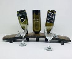 Wine Bottle Holder holds 3 bottles Wine Bottle Holders, Flute, Barrel, Champagne, Bottles, Coffee Maker, Tableware, Products, Coffee Maker Machine