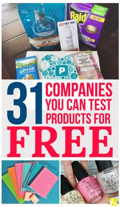 31 Companies That Send You Products to Test for Free