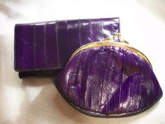 Lee Sands Eel Skin Wallet and XL Eel Skin Coin by THEPARISBOUTIQUE, $38.00