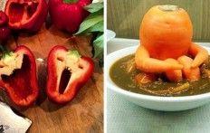 16 foto's van vruchten en ander eten waar je ook echt andere dingen in kan zien