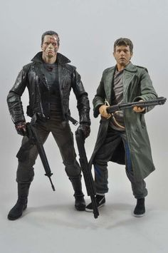 NECA T-800 Terminator Tanker Truck Pursuit and Kyle Reese Action Figures