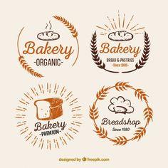 Pack de logos de panadería Vector Gratis