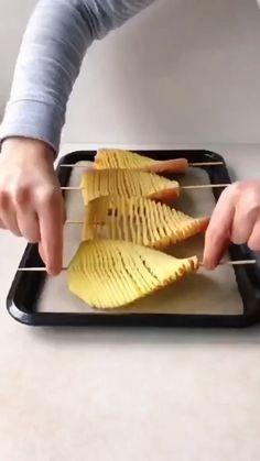 Fun Baking Recipes, Vegetable Recipes, Cooking Recipes, Potato Side Dishes, Vegetable Dishes, Appetizer Recipes, Appetizers, Diy Food, Yummy Food