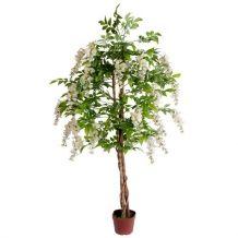 Kunststof bloemenboom Kiruna wit 150 cm