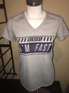 "Danskin Now Semi Fitted Athletic T Shirt  Size Small "" Beware I'm Fast Dri More  #DanskinNow #ShirtsTops"