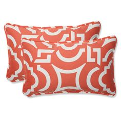 Carmody Mango Rectangular Throw Pillow (Set of 2)