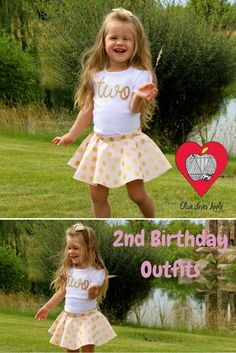 2nd birthday outfit, girls 2nd birthday photography, 2nd birthday party ideas, pink & gold birthday outfit, twirl skirt