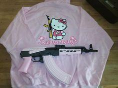 """""""Kalashnikitty"""" t-shirt with Amd65 pistol"""