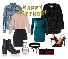 """""""Birhtday Set"""" by moonsailor ❤ liked on Polyvore featuring MANGO, Charlotte Olympia, Edie Parker, Frame, Max&Co., Talking Tables, Barneys New York, Boohoo and Vera Wang"""