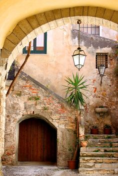 Cefalu, Sicily. By: Peter Mantione    I housed students in this building a few years ago.