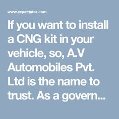 If you want to install a CNG kit in your vehicle, so, A.V Automobiles Pvt. Ltd is the name to trust. As a government-approved service provider, we install import quality kits in your vehicle at our in-house and technology-rich CNG Sequential Kits Fitment Centre in Delhi.