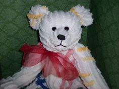 Chenille  Bedspread Teddy Bear Artist by SallyWineyBears on Etsy,