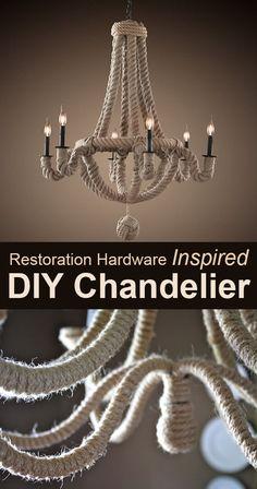 Restoration Hardware Inspired DIY Chandelier