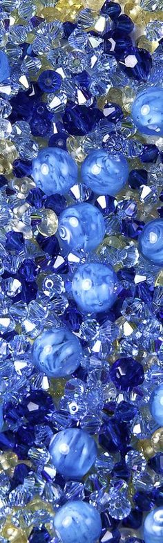 shades of blue beads