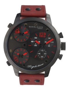 Buy Daniel Klein Men Charcoal Grey Triple Dial Watch DK10368 3 - 361 - Accessories for Men - 492778