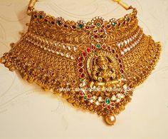 Huge Lakshmi Gold Choker