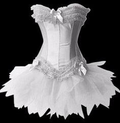 Amazon.com: Loi.color Women's Satin Padded Cup Corset with tutu Skirt: Plus Size Lingerie: Clothing
