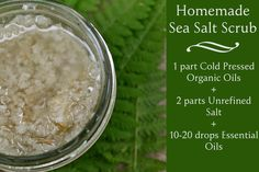 Homemade Sea Salt Scrub: a simple DIY filled with nourishing oils and unique trace minerals Natural Beauty Recipes, Beauty Ideas, Diy Beauty, Beauty Tips, Homemade Scrub, Homemade Gifts, Celtic Salt, Sugar Scrub Cubes, Sea Salt Scrubs