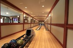 Bowling Alley - traditional - Basement - Seattle - Concept Builders, Inc. Qubica-AMF Bowling Lanes installed in new waterfront home designed and built by Dan Schaafsma of Concept Builders, Inc. Custom Design and Building