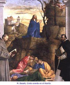 M. Basaiti, Cristo orando en el huerto.  #PrayForPeace #Pray #Faith #Catholic