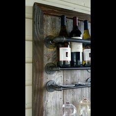 Suporte para taças na garrafa de vinho17