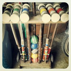 Thrift store croquet sets. Road Trippin, Summer Parties, Cottage Style, Thrifting, Store, How To Make, Vintage, Home Decor, Chalet Style