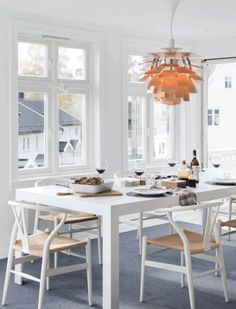 42 best the wishbone chair images dining room dining rooms lunch rh pinterest com