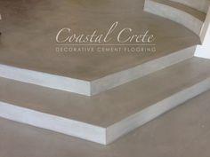 Coastal Crete Flooring | Bone Colour Screed Flooring | Smooth | Seamless Decor, Home Decor Inspiration, Tile Floor, Kitchen Decor, Living Spaces, Cement Floor, Flooring, Floor Colors, Interior Design